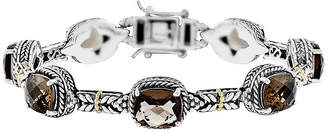 Couture FINE JEWELRY Shey Genuine Smoky Quartz 14K Gold Over Sterling Silver Bracelet
