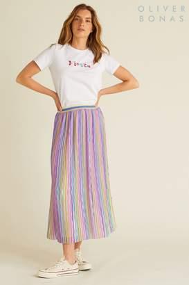Oliver Bonas Womens Rainbow Wave Skirt - Purple