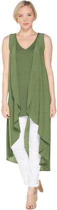 Lisa Rinna Collection Hi-Low Tank Top