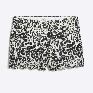 "J.Crew Factory Printed 4"" scalloped short"