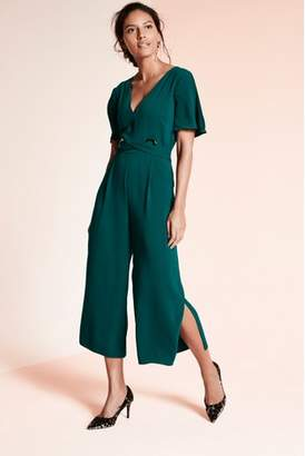 Next Womens Teal Eyelet Detail Jumpsuit