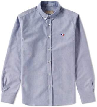 MAISON KITSUNÉ Button Down Classic Tricolour Fox Oxford Shirt