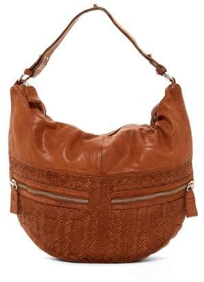 Liebeskind Berlin California Multi Pocket Woven Leather Hobo Bag