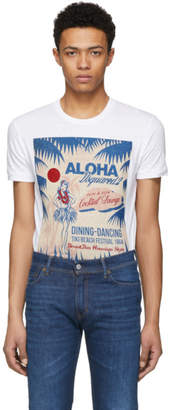 DSQUARED2 White Cocktail Lounge Chic Dan T-Shirt