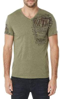 Buffalo David Bitton Tirage Short-Sleeve V-Neck Tee