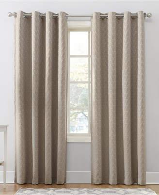 "Sun Zero Corinne 52"" X 95"" Woven Geometric Blackout Lined Grommet Curtain Panel"