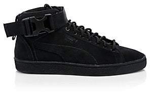 Puma Men's Suede Buckle Strap High-Top Sneakers