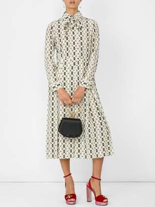 Gucci Long sleeve logo dress
