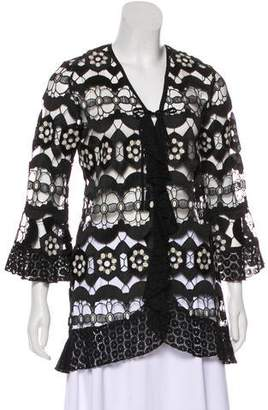 Anna Sui Long Sleeve Open Knit Cardigan