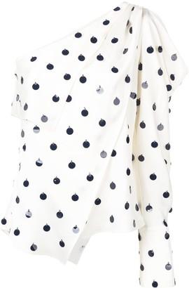 Monse asymmetric one-shoulder blouse
