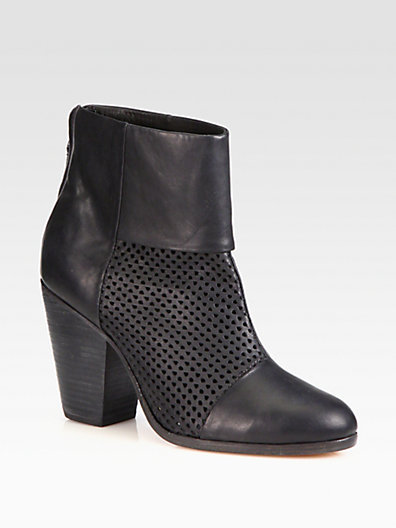 Rag and Bone Rag & Bone Classic Newbury Perforated Leather Ankle Boots
