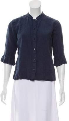 Reformation Round Collar Button-Up Top