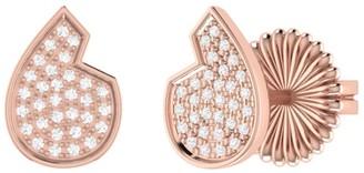 Lmj Street Cycle Stud Earrings In 14 Kt Rose Gold Vermeil On Sterling Silver