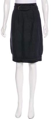 Saint Laurent Knee-Length Silk Skirt