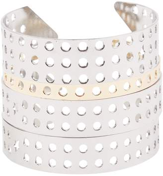 Thierry Mugler Silver Metal Bracelets