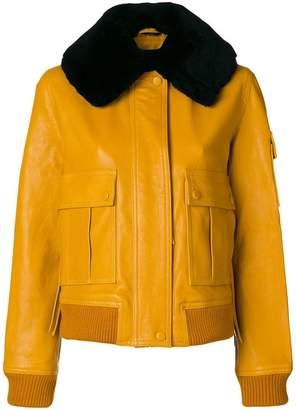 Victoria Beckham Victoria shearling-trimmed leather jacket