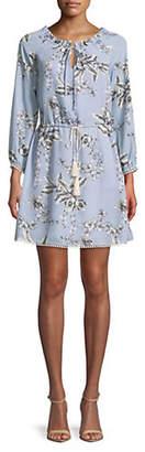 Sam Edelman Floral Lace-Trimmed Dress