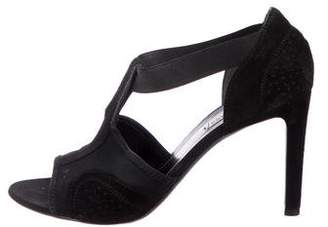 Balenciaga Suede T-Strap Sandals