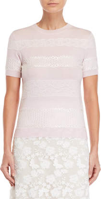 Giambattista Valli Cashmere Lace Trim Top