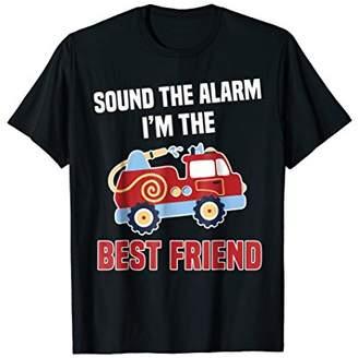 Best Friend of the Fire Truck Birthday T-Shirt Matching Tee
