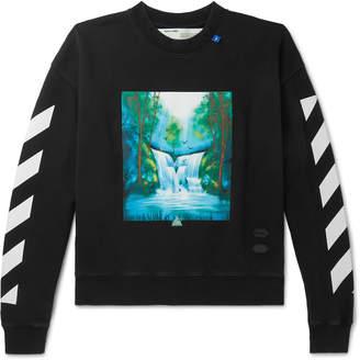 Off-White Off White Printed Loopback Cotton-Jersey Sweatshirt - Men - Black