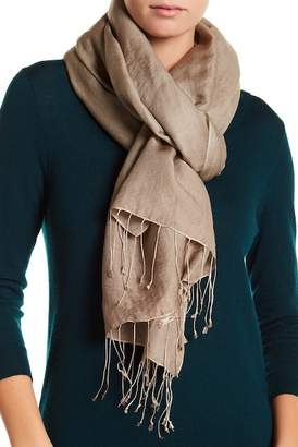Saachi Taupe Cashmere & Silk Blend Lightweight Pashmina
