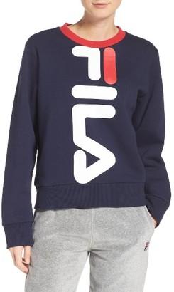 Women's Fila Mona Logo Crop Sweatshirt $68 thestylecure.com