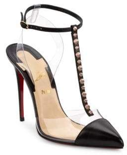 Christian Louboutin Nosy Spikes 100 Cap Toe Pumps