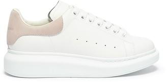 Alexander McQueen 'Oversized Sneaker' in leather with suede collar