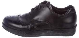 Prada Sport Leather Wingtip Brogue Sneakers