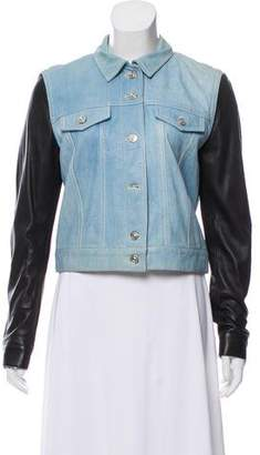 Barbara Bui Contrast Leather Jacket