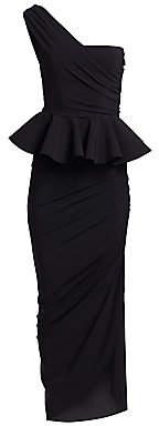 Chiara Boni Women's Okoye One-Shoulder Peplum Gown