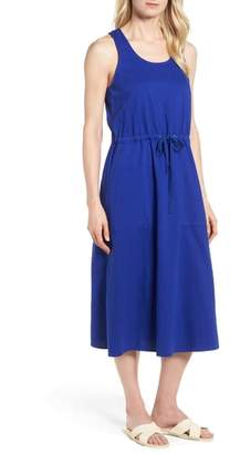Eileen Fisher Drawstring Organic Cotton Midi Dress