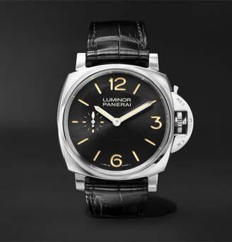 Panerai Officine Luminor 1950 3 Days Acciaio 42mm Stainless Steel And Alligator Watch