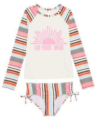Billabong Good Morning Sunshine Two-Piece Rashguard Swimsuit