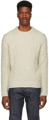 Rag & Bone Ivory Trevor Aran Sweater