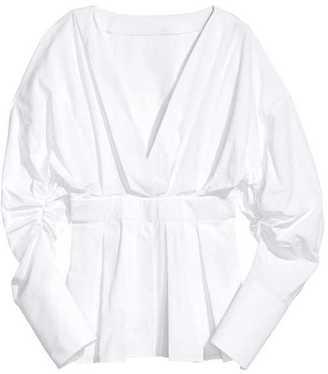 H&M V-neck Cotton Blouse