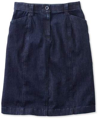 L.L. Bean L.L.Bean Easy-Stretch Skirt, Denim