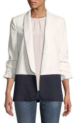 Joie Lollasa B Colorblock Jacket with Scrunch Sleeves