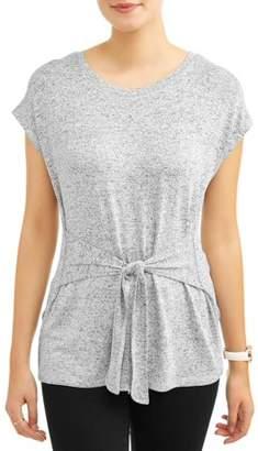 Alison Andrews Women's Short Sleeve Tie Front T-Shirt