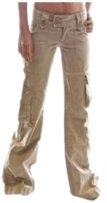 FreelyWomen Freely Women's Lounge Wide Leg Plus-Size Low Waist Flare Pocket Stylish Cargo Pants L