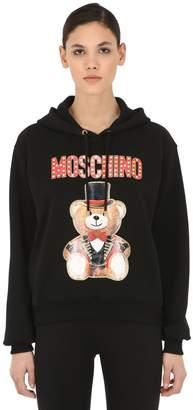 Moschino Logo Cotton Sweatshirt Hoodie