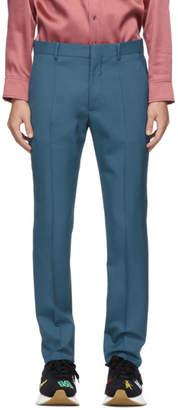 Marni Blue Tropical Wool Trousers