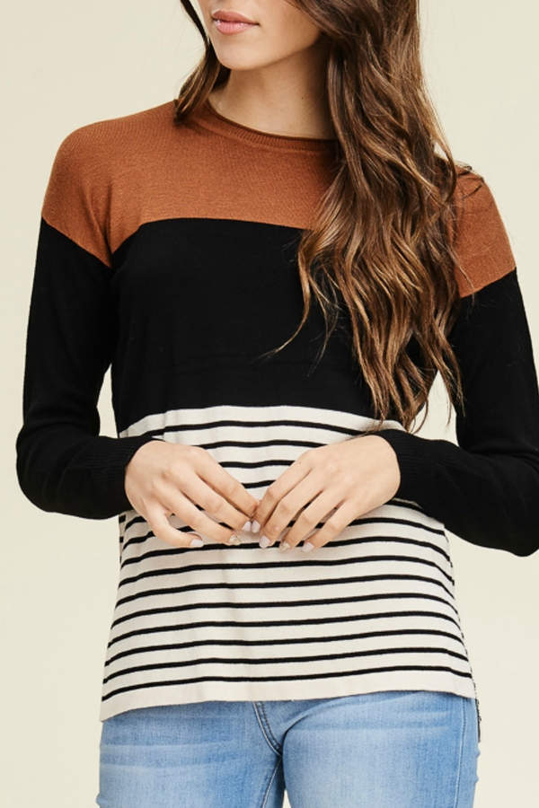 Starrs On Mercer Color Block Sweater