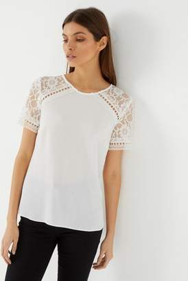 d20cd8361f2 Womens Top Lace Ivory - ShopStyle UK