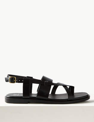 Marks and Spencer Leather Cross Over Strap Sandals