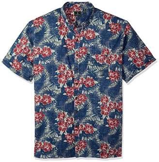 G.H. Bass & Co. Men's Big and Tall Salt Cove Print Short Sleeve Shirt