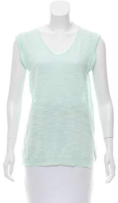 White + Warren Linen Sleeveless Knit Top