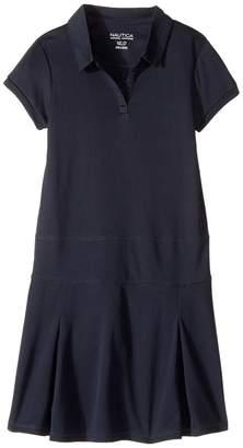 Nautica Short Sleeve Knit Performance Dress Girl's Dress