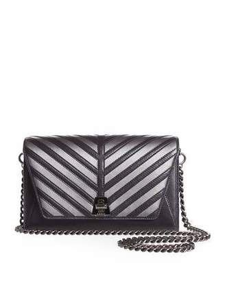 Akris Anouk Small City Oversize-Herringbone Chain Shoulder Bag